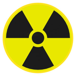 45647769 - render illustration of radioactive warning sign