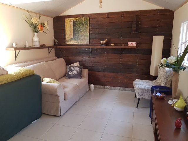 Therapy room of Sarah Tuckett Psychotherapy and Counselling Kelvin Grove North Brisbane