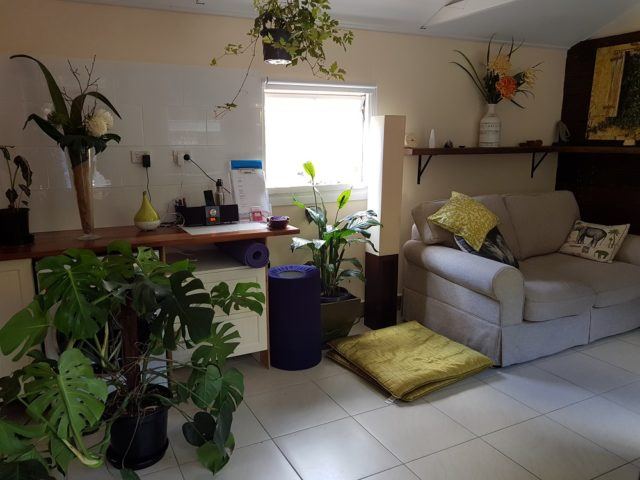 Interior of therapy room - Sarah Tuckett Psychotherapy and Counselling, Kelvin Grove North Brisbane